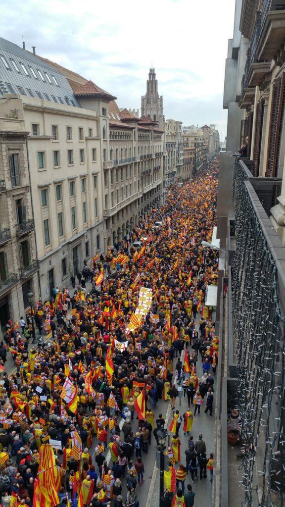 Manifestación por la autonomía de Tabarnia